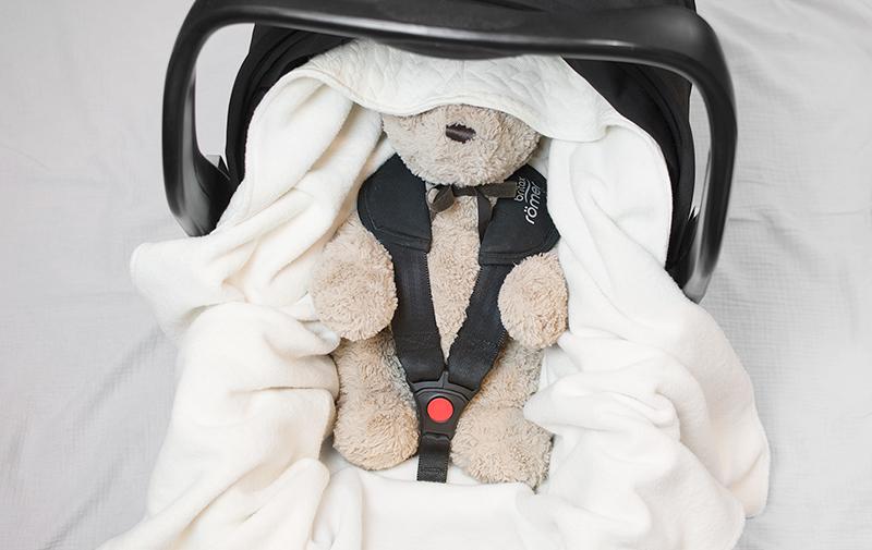 Babywrap off-white - filt till babyskydd