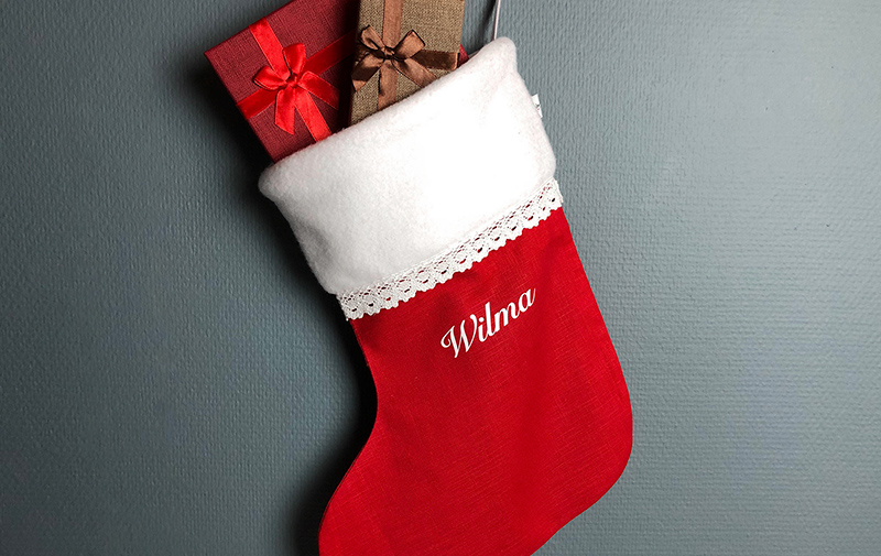Julstrumpa med namn